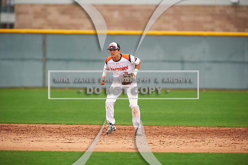 Trey Zahursky (6) of Capuchino High School in Millbrae, California during the Under Armour All-American Pre-Season Tournament presented by Baseball Factory on January 15, 2017 at Sloan Park in Mesa, Arizona.  (Zac Lucy/Mike Janes Photography)