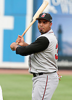 Nashville Sounds Nelson Cruz #37 during warmups before the Triple-A All-Star Game at Fifth Third Field on July 10, 2006 in Toledo, Ohio.  (Mike Janes/Four Seam Images)