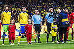 Solna 2013-11-19 Fotboll VM-kval Playoff , Sverige - Portugal :  <br /> Sverige Zlatan Ibrahimovic och i fokus framf&ouml;r TV-kamera<br /> (Photo: Kenta J&ouml;nsson) Keywords:  Sweden Portugal