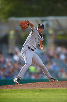 Grand Junction Rockies relief pitcher Zach Guth (40) during a Pioneer League game against the Grand Junction Rockies at Dehler Park on August 15, 2019 in Billings, Montana. Billings defeated Grand Junction 11-2. (Zachary Lucy/Four Seam Images)