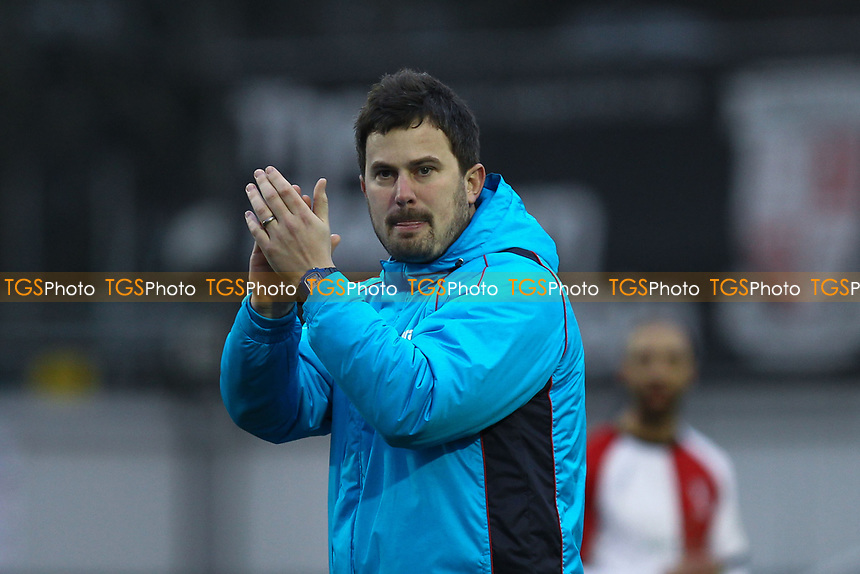 Woking assistant manager Ian Dyer applauds the fans  after the match during Woking vs Watford, Emirates FA Cup Football at The Laithwaite Community Stadium on 6th January 2019