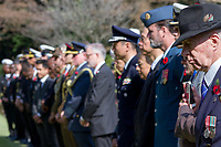 The representative of the St Andrews Society (far right) at the Remembrance Sunday ceremony at the Hodogaya, Commonwealth War Graves Cemetery in Hodogaya, Yokohama, Kanagawa, Japan. Sunday November 11th 2018. The Hodagaya Cemetery holds the remains of more than 1500 servicemen and women, from the Commonwealth but also from Holland and the United States, who died as prisoners of war or during the Allied occupation of Japan. Each year officials from the British and Commonwealth embassies, the British Legion and the British Chamber of Commerce honour the dead at a ceremony in this beautiful cemetery. The year 2018 marks the centenary of the end of the First World War in 1918.