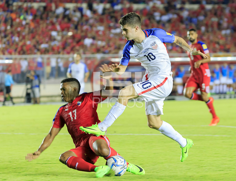 Panama City, Panama - March 28, 2017: The U.S. Men's National team and Panama played to a 1-1 tie in a 2018 World Cup Qualifying Hexagonal match at Estadio Rommel