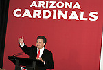 The Arizona Cardinals today unveiled their new uniforms for the 2005/2006 season.  Here Micheal Bidwill announces the players walking the runway.