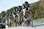 Bora-Hansgrohe team in action during the 1st stage of the race of the two seas, 52nd Tirreno-Adriatico by NamedSport a 22.7km Team Time Trial around Lido di Camaiore, Italy. 8th March 2017.<br /> Picture: La Presse/Fabio Ferrari | Cyclefile<br /> <br /> <br /> All photos usage must carry mandatory copyright credit (&copy; Cyclefile | La Presse)