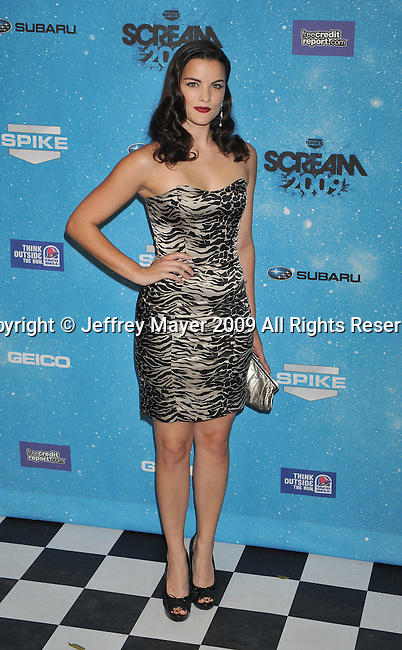 LOS ANGELES, CA. - October 17: Jaimie Alexander  arrives at Spike TV's Scream 2009 held at the Greek Theatre on October 17, 2009 in Los Angeles, California.