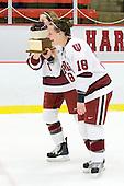 Kathryn Farni (Harvard - 8), Cori Bassett (Harvard - 18) - The Harvard University Crimson defeated the Northeastern University Huskies 1-0 to win the 2010 Beanpot on Tuesday, February 9, 2010, at the Bright Hockey Center in Cambridge, Massachusetts.