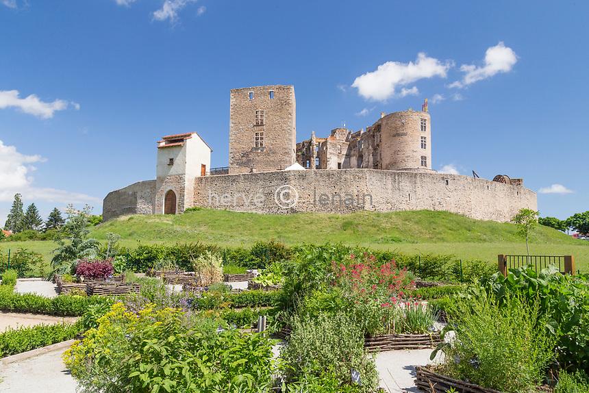 France, Loire (42), Montrond-les-Bains, château de Montrond
