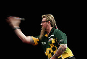 10th January 2018, Brisbane Royal International Convention Centre, Brisbane, Australia; Pro Darts Showdown Series; Simon Whitlock (AUS) in action during his match against Lucas Cameron (AUS)