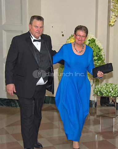 United States Senator Jon Tester (Democrat of Montana) and Sharla Tester arrive for the State Dinner in honor of Prime Minister Trudeau and Mrs. Sophie Gr&Egrave;goire Trudeau of Canada at the White House in Washington, DC on Thursday, March 10, 2016.<br /> Credit: Ron Sachs / Pool via CNP/MediaPunch