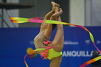 BARRANQUILLA - COLOMBIA, 30-07-2018:Marina Malpica  (MEX) ,en  gimnasia rítmica .Juegos Centroamericanos y del Caribe Barranquilla 2018. /Marina Malpica  (MEX)  inrhythmic gymnastics of the Central American and Caribbean Sports Games Barranquilla 2018. Photo: VizzorImage /  Alfonso Cervantes /Contribuidor