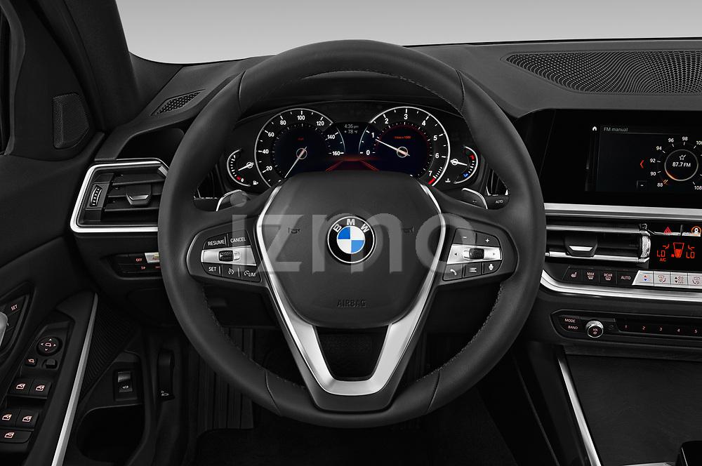 Car pictures of steering wheel view of a 2019 BMW 3-Series  Sport 4 Door Sedan