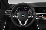 Car pictures of steering wheel view of a 2019 BMW 3-Series  Sport 4 Door Sedan
