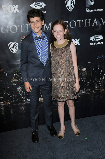 WWW.ACEPIXS.COM<br /> September 15, 2014 New York City<br /> <br /> David Mazouz and Clare Foley attending the 'Gotham' Series Premiere at The New York Public Library onSeptember 15, 2014 in New York City.<br /> <br /> Please byline: Kristin Callahan/AcePictures<br /> <br /> ACEPIXS.COM<br /> <br /> Tel: (212) 243 8787 or (646) 769 0430<br /> e-mail: info@acepixs.com<br /> web: http://www.acepixs.com