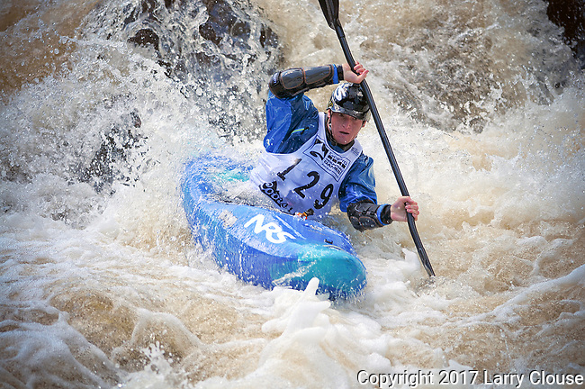 June 8, 2017 - Vail, Colorado, U.S. -  USA's, Alec Voorhees, works his way through the Goal Post Rapid on Homestake Creek's difficult course in the Steep Creek competition during the GoPro Mountain Games, Vail, Colorado.  Adventure athletes from around the world meet in Vail, Colorado, June 8-11, for America's largest celebration of mountain sports, music, and lifestyle.