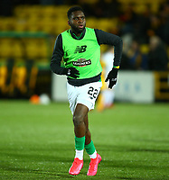 4th March 2020; Almondvale Stadium, Livingston, West Lothian, Scotland; Scottish Premiership Football, Livingston versus Celtic; Odsonne Edouard of Celtic during the warmup