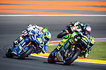VALENCIA, SPAIN - NOVEMBER 11: Pol Espargaro, Aleix Espargaro during Valencia MotoGP 2016 at Ricardo Tormo Circuit on November 11, 2016 in Valencia, Spain