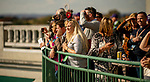 November 3, 2018 : Fans look over the track on Breeders Cup World Championships Saturday at Churchill Downs on November 3, 2018 in Louisville, Kentucky. ///Eclipse Sportswire/CSM