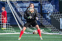 Boston, MA - Saturday April 29, 2017: Haley Kopmeyer during warmups before a regular season National Women's Soccer League (NWSL) match between the Boston Breakers and Seattle Reign FC at Jordan Field.