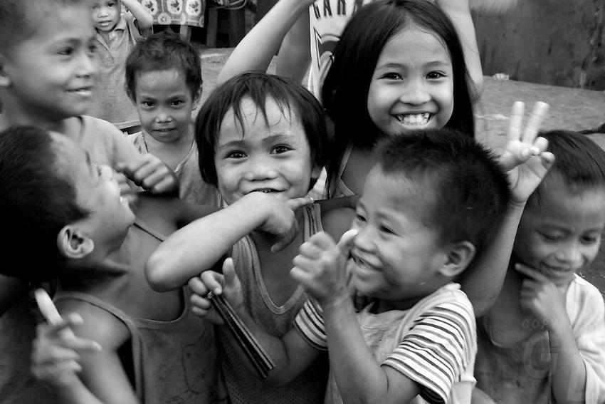 Slum area Manila from the Car Window, Philippines