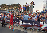 Commerce City, CO - Thursday June 08, 2017: Clint Dempsey, Fans during a 2018 FIFA World Cup Qualifying Final Round match between the men's national teams of the United States (USA) and Trinidad and Tobago (TRI) at Dick's Sporting Goods Park.