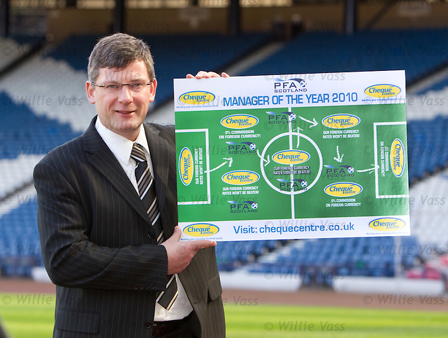 Craig Levein launches the 2010 search for Scotland's manager of the year in conjunction with PFA Scotland