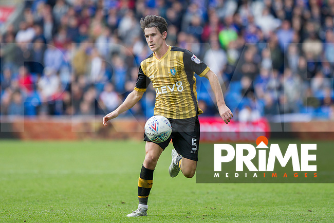 Kieran Lee of Sheffield Wednesday during the Sky Bet Championship match between Cardiff City and Sheffield Wednesday at Cardiff City Stadium, Cardiff, Wales on 16 September 2017. Photo by Mark  Hawkins / PRiME Media Images.