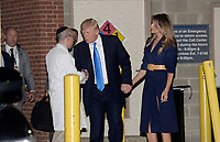 United States President Donald J. Trump and first lady Melania Trump shake hands with Doctor Ira Rabin while leaving the MedStar Washington Hospital Center in northeast D.C., after visiting with victims of this morning's shooting on June 14, 2017. <br /> Credit: Olivier Douliery / Pool via CNP /MediaPunch