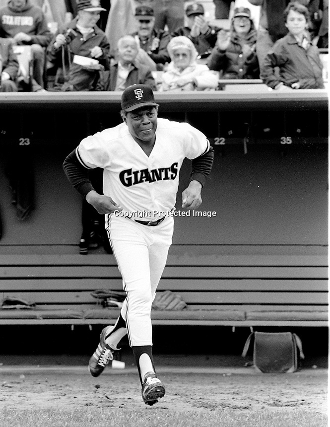 San Francisco Giants slugger Willie Mays. (1986 photo/ by Ron Riesterer)