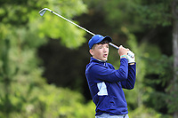 Donogh McDonogh (Oughterard) on the 1st tee during the Connacht U12, U14, U16, U18 Close Finals 2019 in Mountbellew Golf Club, Mountbellew, Co. Galway on Monday 12th August 2019.<br /> <br /> Picture:  Thos Caffrey / www.golffile.ie<br /> <br /> All photos usage must carry mandatory copyright credit (© Golffile | Thos Caffrey)