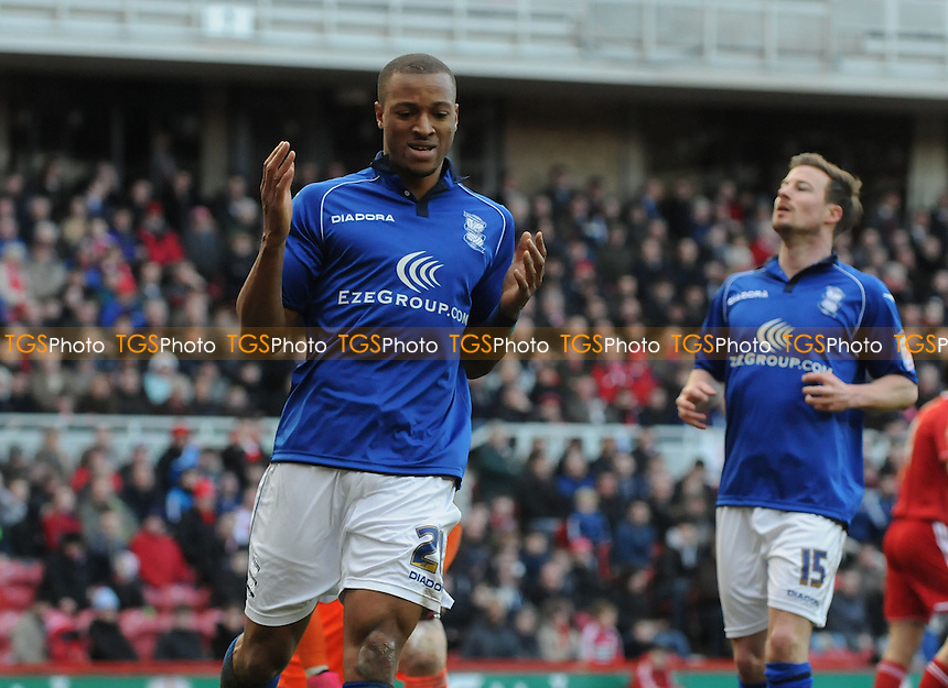 Akwasi Asante of Birmingham City is left frustrated - Middlesbrough vs Birmingham City - NPower Championship Football at the Riverside Stadium, Middlesbrough - 16/03/13 - MANDATORY CREDIT: Steven White/TGSPHOTO - Self billing applies where appropriate - 0845 094 6026 - contact@tgsphoto.co.uk - NO UNPAID USE.