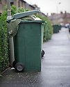 Overloaded Green Wheelie Bins