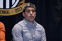 INDIANAPOLIS, IN - January 18, 2013: 2002 and 2006 World Cup captain Claudio Reyna. U.S. Soccer hosted a World Cup Coaches and Captains panel at the Indiana Convention Center in Indianapolis, Indiana during the NSCAA Annual Convention.