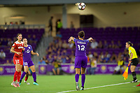 Orlando, FL - Tuesday August 08, 2017: Kristen Edmonds during a regular season National Women's Soccer League (NWSL) match between the Orlando Pride and the Washington Spirit at Orlando City Stadium.