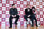 (L-R) Hiroshi Mikitani,  Sergi Samper (Vissel), <br /> MARCH 7, 2019 - Football : Vissel Kobe new signing player Sergi Samper during a press confrence in Tokyo, Japan. <br /> (Photo by MATSUO.K/AFLO SPORT)