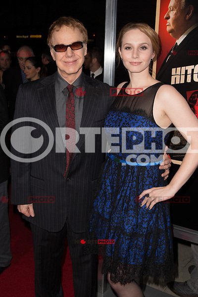 """November 20, 2012 - Beverly Hills, California - Danny Elfman and Mali Elfman at the """"Hitchcock"""" Los Angeles Premiere held at the Academy of Motion Picture Arts and Sciences Samuel Goldwyn Theater. Photo Credit: Colin/Starlite/MediaPunch Inc"""
