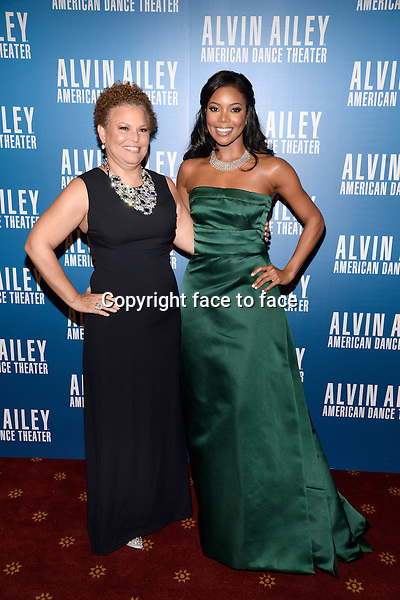 NEW YORK, NY - DECEMBER 04: Debra L. Lee and Gabrielle Union pictured at Alvin Ailey's Opening Night Gala at New York City Center, on December 4, 2013 in New York City. Credit: RTNPluvious/MediaPunch Inc.<br />