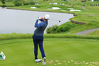 Lucas Bjerregaard (DEN) on the 2nd tee during Round 2 of the 100th Open de France, played at Le Golf National, Guyancourt, Paris, France. 01/07/2016. <br /> Picture: Thos Caffrey | Golffile<br /> <br /> All photos usage must carry mandatory copyright credit   (&copy; Golffile | Thos Caffrey)
