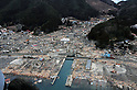 WAKUYA, Japan (March 15, 2011) An aerial view of damage to Wakuya, Japan after a 9.0 magnitude earthquake and subsequent tsunami devastated the area in northern Japan. Ships and aircraft from the Ronald Reagan Carrier Strike Group are conducting search and rescue operations and re-supply missions as directed in support of Operation Tomodachi throughout northern Japan. (Photo by U.S. Navy/AFLO) [0006]