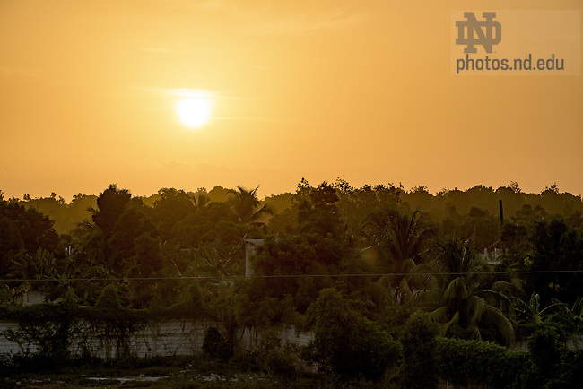 June 24, 2015; Sunrise over Leogane, Haiti. (Photo by Matt Cashore/University of Notre Dame)