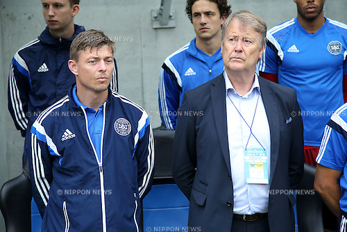 (R-L) Age Hareide, Jon Dahl Tomasson (DEN),<br /> JUNE 7, 2016 - Football / Soccer :<br /> Denmark's head coach Age Hareide and assistant coach Jon Dahl Tomasson before the Kirin Cup Soccer 2016 3rd Place Playoff match between Denmark 4-0 Bulgaria at Suita City Football Stadium in Osaka, Japan. (Photo by Kenzaburo Matsuoka/AFLO)