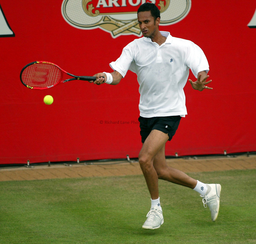 Photograph: Scott Heavey..Day 2 of the Stella Artois Championship at the Queens Club. 10/06/2003..Arvind Parmer