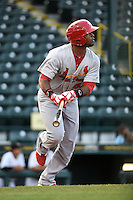 Palm Beach Cardinals outfielder Anthony Garcia (44) during a game against the Bradenton Marauders on April 8, 2014 at McKechnie Field in Bradenton, Florida.  Bradenton defeated Palm Beach 4-3.  (Mike Janes/Four Seam Images)