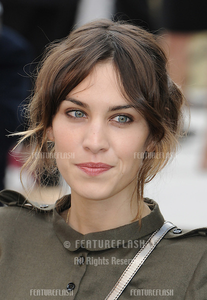 TV presenter, Alexa Chung arrives for the Burberry fashion show as part of London Fashion Week at the Chelsea College of Art and Design, London.  22/09/2010  Picture by: Simon Burchell / Featureflash
