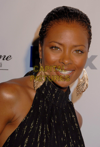EVA PIGFORD.Black Enterprise Top 50 Hollywood Power Brokers List Party held at the Beverly Wilshire Four Seasons, Beverly Hills, California, USA, 21 February 2007..portrait headshot gold earrings.CAP/ADM/GB.©Gary Boas/AdMedia/Capital Pictures.