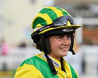 Jockey Imogen Mathias during Evening Racing at Salisbury Racecourse on 3rd September 2019