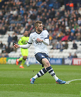 Preston North End's Tom Barkuizen scores his sides first goal  <br /> <br /> Photographer Mick Walker/CameraSport<br /> <br /> The EFL Sky Bet Championship - Preston North End v Reading - Saturday 11th March 2017 - Deepdale - Preston<br /> <br /> World Copyright &copy; 2017 CameraSport. All rights reserved. 43 Linden Ave. Countesthorpe. Leicester. England. LE8 5PG - Tel: +44 (0) 116 277 4147 - admin@camerasport.com - www.camerasport.com