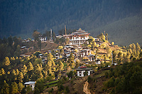 Gangteng Monastery in Phobjika Valley.