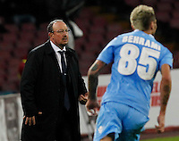 Rafael Benitez in action during the Italian Serie A soccer match between SSC Napoli and Parma FC at San Paolo stadium in Naples