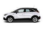Car driver side profile view of a 2018 Opel Crossland X Innovation 5 Door SUV